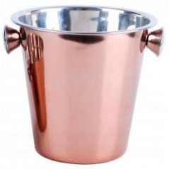 4L Stainless steel ice bucket in copper ...