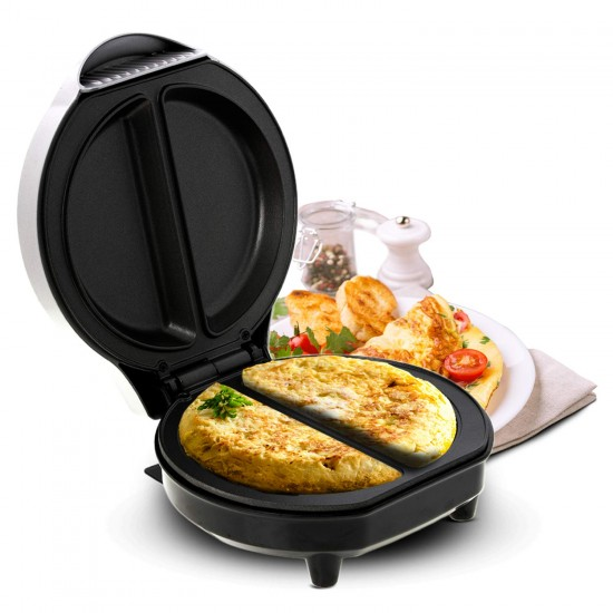 Geepas 1000W Omelette Maker - Electric Cooker with Non-Stick Plate