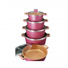 Huochu Aluminium Cookware Set, 10 Pcs...