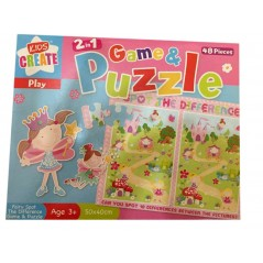 Kids Create 2-in-1 Game and Puzzle