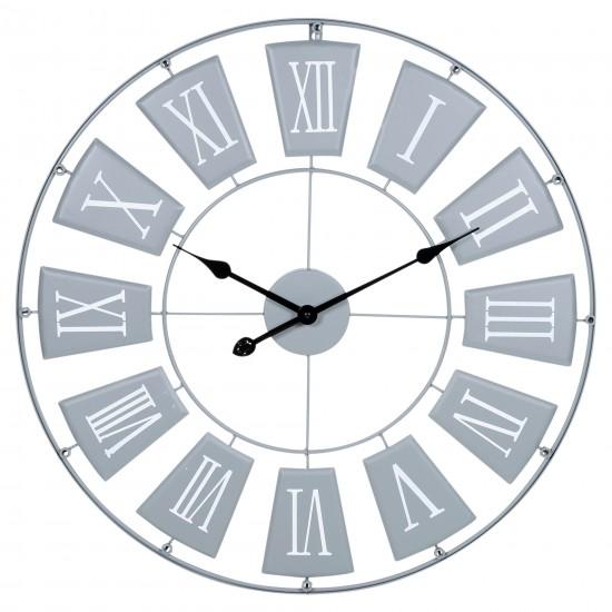 Large Garden Wall Clock Metal Skeleton Roman Numerals Indoor Outdoor Garden 70cm