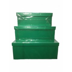 15pcs Set of Green Gift Boxes...