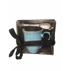 Gift Set Ceramic Mug with Spoon...